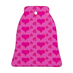 Hearts Pink Bell Ornament (2 Sides)