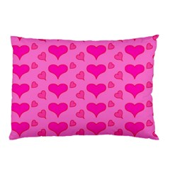 Hearts Pink Pillow Cases (Two Sides)