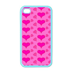 Hearts Pink Apple iPhone 4 Case (Color)