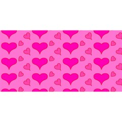 Hearts Pink YOU ARE INVITED 3D Greeting Card (8x4)