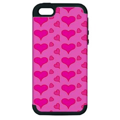 Hearts Pink Apple iPhone 5 Hardshell Case (PC+Silicone)