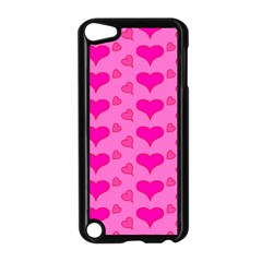 Hearts Pink Apple iPod Touch 5 Case (Black)