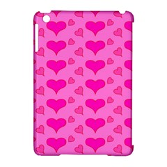 Hearts Pink Apple iPad Mini Hardshell Case (Compatible with Smart Cover)