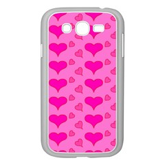 Hearts Pink Samsung Galaxy Grand DUOS I9082 Case (White)