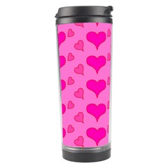 Hearts Pink Travel Tumblers