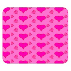 Hearts Pink Double Sided Flano Blanket (Small)