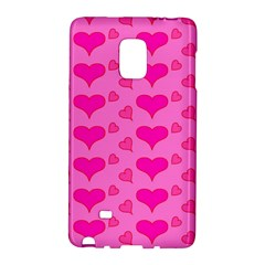 Hearts Pink Galaxy Note Edge