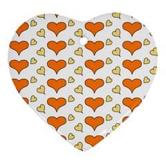 Hearts Orange Ornament (Heart)