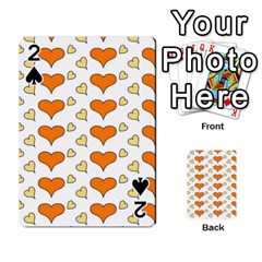 Hearts Orange Playing Cards 54 Designs