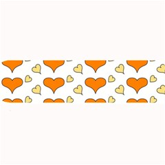 Hearts Orange Large Bar Mats