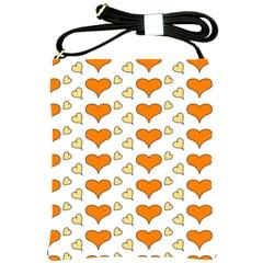 Hearts Orange Shoulder Sling Bags