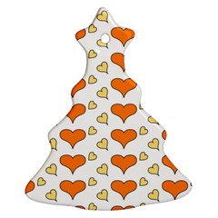 Hearts Orange Christmas Tree Ornament (2 Sides)