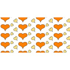 Hearts Orange You Are Invited 3d Greeting Card (8x4)