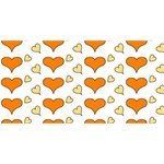 Hearts Orange Best Wish 3D Greeting Card (8x4)  Front