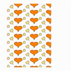 Hearts Orange Small Garden Flag (two Sides)