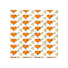Hearts Orange Acrylic Tangram Puzzle (4  x 4 )