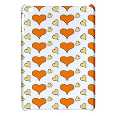Hearts Orange Apple iPad Mini Hardshell Case