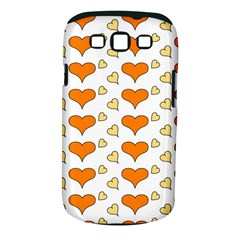 Hearts Orange Samsung Galaxy S III Classic Hardshell Case (PC+Silicone)