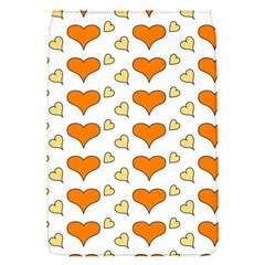 Hearts Orange Flap Covers (S)