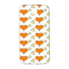 Hearts Orange Samsung Galaxy S4 I9500/I9505  Hardshell Back Case