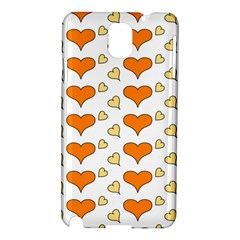 Hearts Orange Samsung Galaxy Note 3 N9005 Hardshell Case