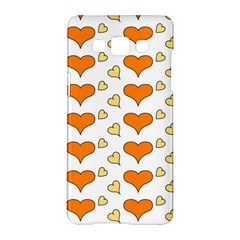 Hearts Orange Samsung Galaxy A5 Hardshell Case