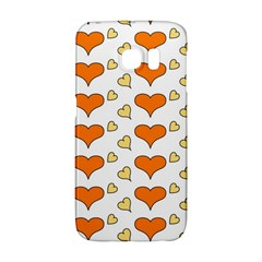 Hearts Orange Galaxy S6 Edge
