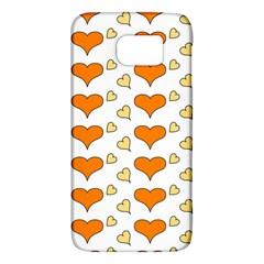 Hearts Orange Galaxy S6