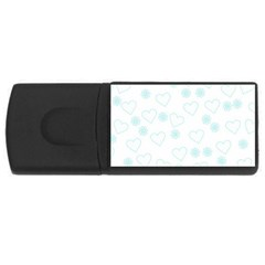 Flowers And Hearts USB Flash Drive Rectangular (1 GB)