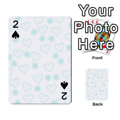 Flowers And Hearts Playing Cards 54 Designs
