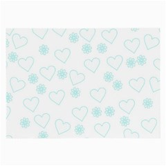 Flowers And Hearts Large Glasses Cloth