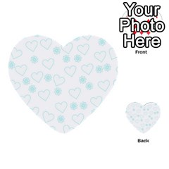 Flowers And Hearts Multi Purpose Cards (heart)