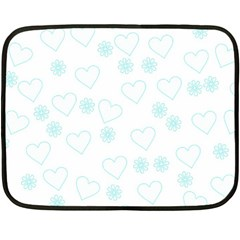 Flowers And Hearts Fleece Blanket (Mini)