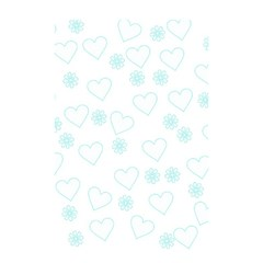 Flowers And Hearts Shower Curtain 48  x 72  (Small)