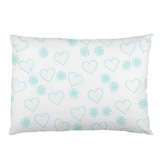 Flowers And Hearts Pillow Cases (two Sides)