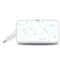 Flowers And Hearts Portable Speaker (White)