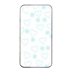 Flowers And Hearts Apple Iphone 4/4s Seamless Case (black)