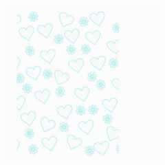 Flowers And Hearts Small Garden Flag (Two Sides)