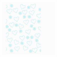 Flowers And Hearts Large Garden Flag (two Sides)