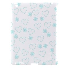 Flowers And Hearts Apple iPad 3/4 Hardshell Case (Compatible with Smart Cover)