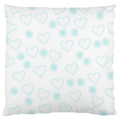 Flowers And Hearts Large Cushion Cases (One Side)
