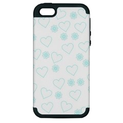 Flowers And Hearts Apple iPhone 5 Hardshell Case (PC+Silicone)
