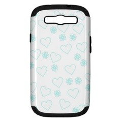 Flowers And Hearts Samsung Galaxy S III Hardshell Case (PC+Silicone)