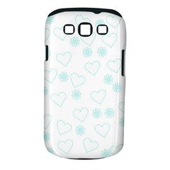 Flowers And Hearts Samsung Galaxy S III Classic Hardshell Case (PC+Silicone)
