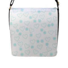Flowers And Hearts Flap Messenger Bag (L)