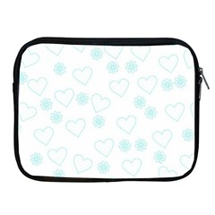 Flowers And Hearts Apple iPad 2/3/4 Zipper Cases