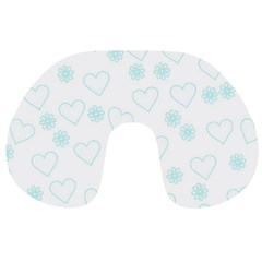 Flowers And Hearts Travel Neck Pillows