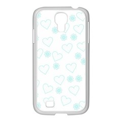 Flowers And Hearts Samsung GALAXY S4 I9500/ I9505 Case (White)