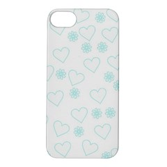 Flowers And Hearts Apple iPhone 5S Hardshell Case