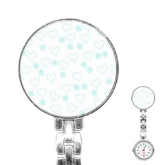 Flowers And Hearts Stainless Steel Nurses Watches